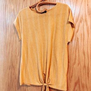 W5 Mustard Tie Top (Anthropologie)